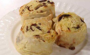 Patatesli Pastırmalı Rulo Börek Tarifi