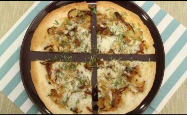 Karamelize Soğanlı Pratik Pizza Tarifi