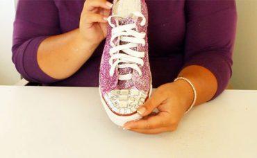 Taşlı-Simli Havalı Ayakkabı