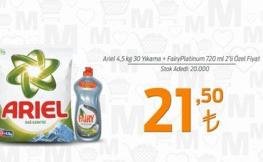 Bahar Temizliğinin Adresi Migros: Ariel + Fairy Platinum