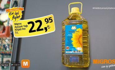 Migros Ayçiçek Yağı'nda İyi Fiyat İyi Gelecek!