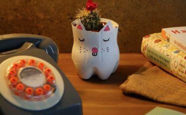 Pet Şişeden Dekoratif Saksı Yapımı