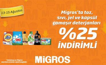 Migros'ta Çamaşır Deterjanları %25 İndirim!