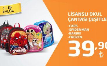 Lisanslı Okul Çantası Çeşitleri 39,90 TL Fiyatıyla Migros'ta!