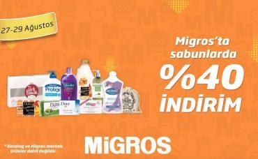 Migros'ta Tüm Sabunlarda %40 İndirim!