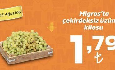 Mevsim Tazesi Üzümde İyi Fiyat Migros'ta!