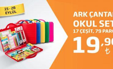 ARK Çantalı Okul Seti Sadece 19,90 TL!
