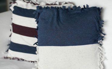 Eski Tişörtlerden Dikişsiz Yastık Kılıfı