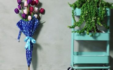 Şemsiyeden Çiçek Çelengi Nasıl Yapılır?