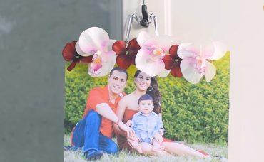 Plastik Çiçeklerden Çerçeve Yapımı