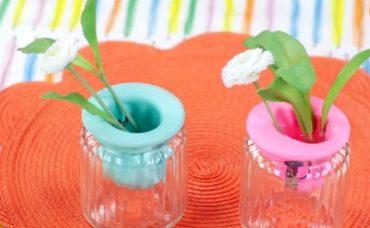 Canlı Çiçekler İçin Balonlu Kavanozdan Vazo Nasıl Yapılır?