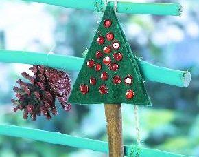 Keçeden Minik Yılbaşı Ağacı Yapımı