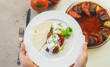 Fırında Kolay Patlıcan Kebabı