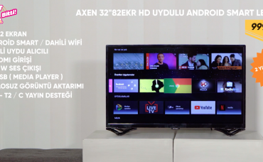 Axen HD 32 INC 82 Ekran Uydulu Android Smart LED TV