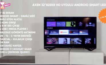 Axen HD 32 INC 82 Ekran Uydulu Android Smart LED TV