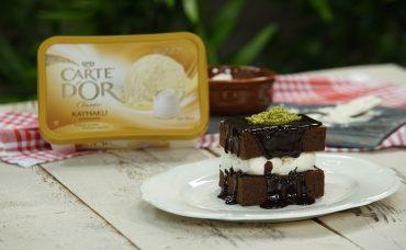 Nefis Carte d'Or ile Taçlanan Tatlı Tarifleri Dondurmalı Brownie