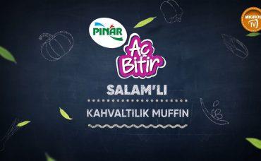 Pınar Salamlı Kahvaltılık Muffin Tarifi