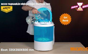 Bood Taşınabilir Mini Çamaşır Makinesi 3KG