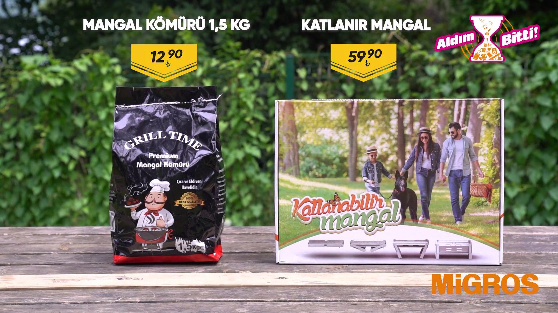 Katlanır Mangal ve Mangal Kömürü 1,5KG