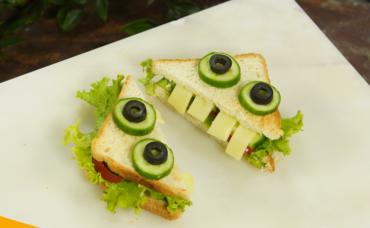 Beslenme Çantası Tarifleri: Sevimli Canavar Sandviç