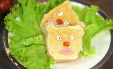 Beslenme Çantası Tarifleri: Ayıcıklı Mini Sandviç